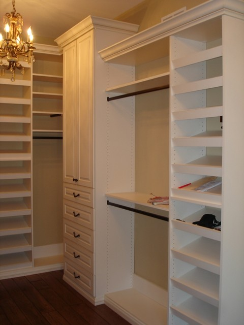 Traditional closet for Walk in closet remodel