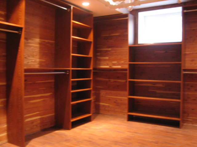 Custom closet in basement traditional closet other for Custom closet images