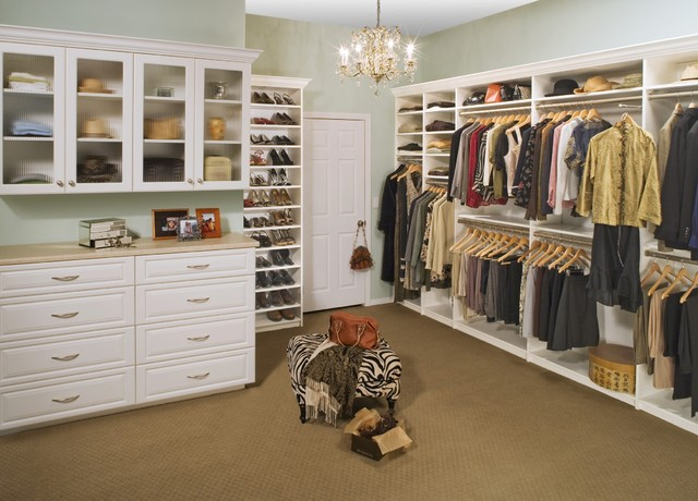 Chic Walk-in Closet - Traditional - Closet - Other - by Tailored Living featuring PremierGarage
