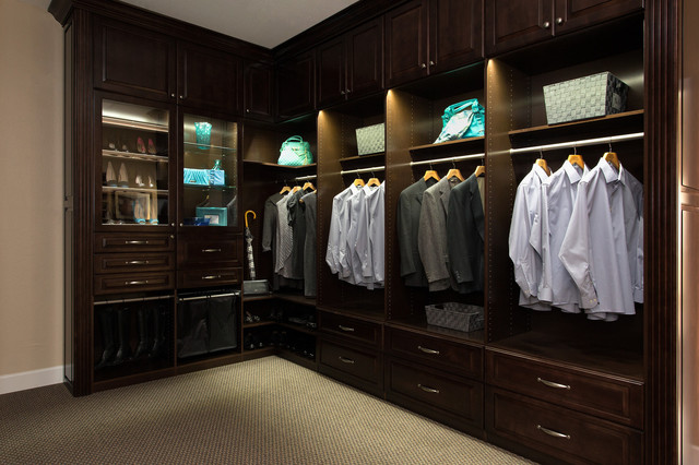 Campbell Showroom Closet With LED Lighting Traditional Closet