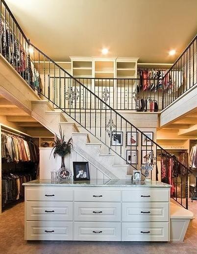 Two Story Closet traditional-closet
