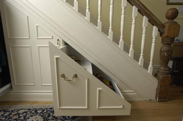 under stair storage traditional closet toronto by
