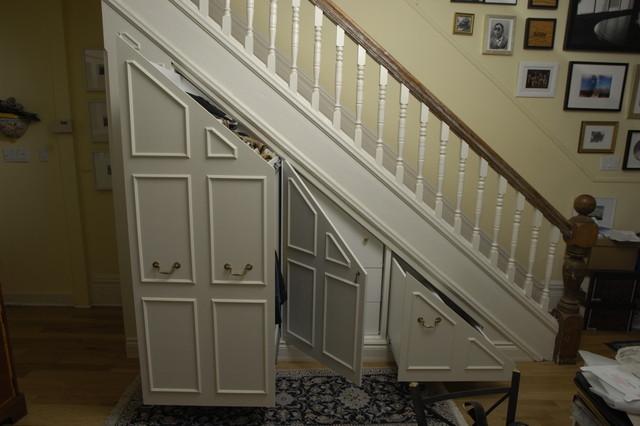 Under Stair Storage Traditional Closet