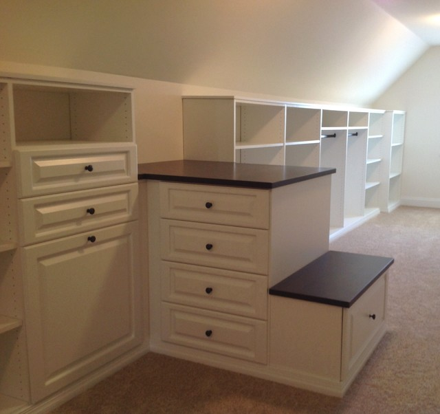 Vaulted Ceiling Closets Traditional Wardrobe Chicago