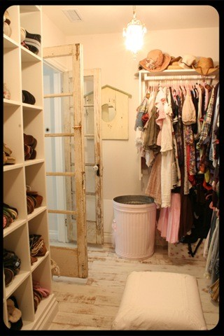 Vintage Closet traditional closet