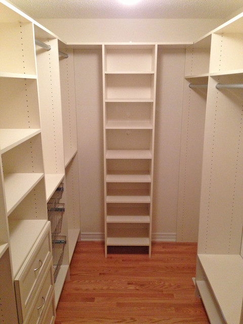 Walk In Closet After Traditional Closet Toronto