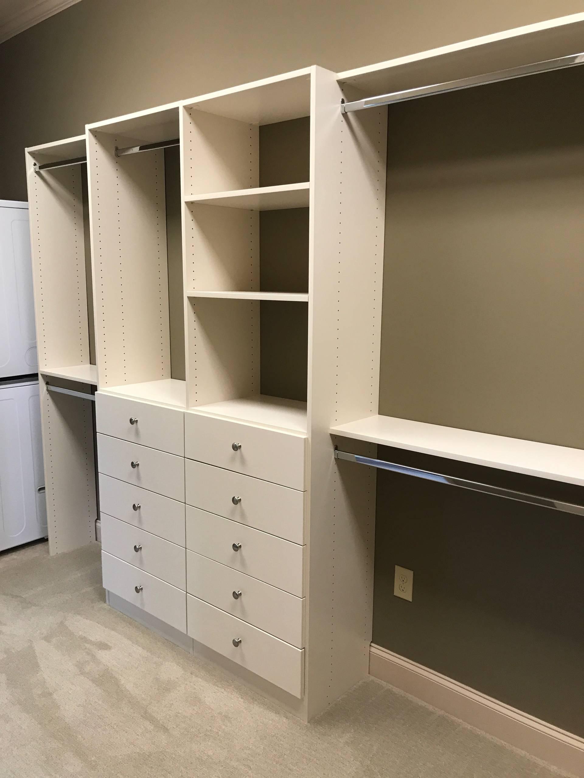 Walk-in Closet & Laundry area in Moore, SC