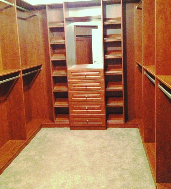 Walk In Closet Traditional Closet Chicago By Closet Organizing Systems
