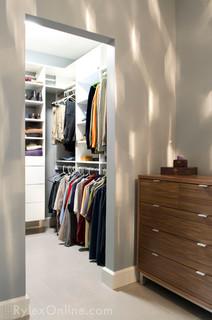 walk in closet ideas  eclectic  closet  new york