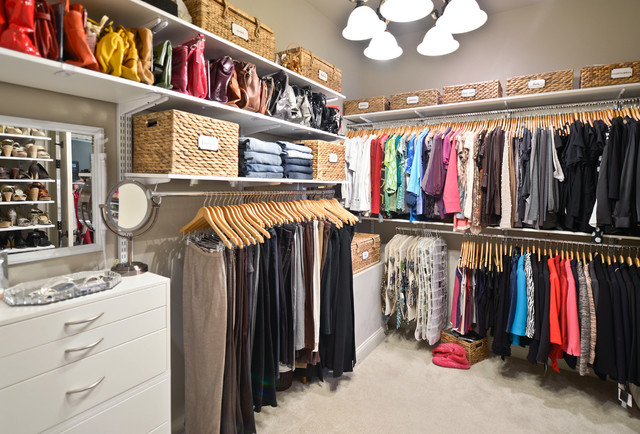 Bon Walk In Closet Organization | Organized Living FreedomRail Traditional  Closet