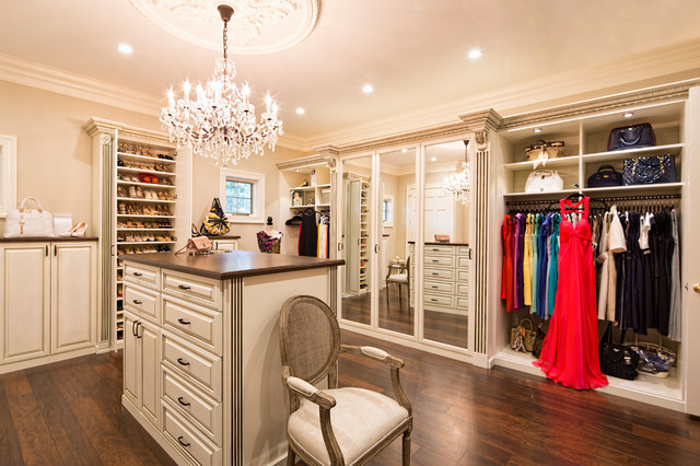 walk in closet design. Example Of A Large Classic Women\u0027s Brown Floor Walk-in Closet Design In Los Angeles Walk