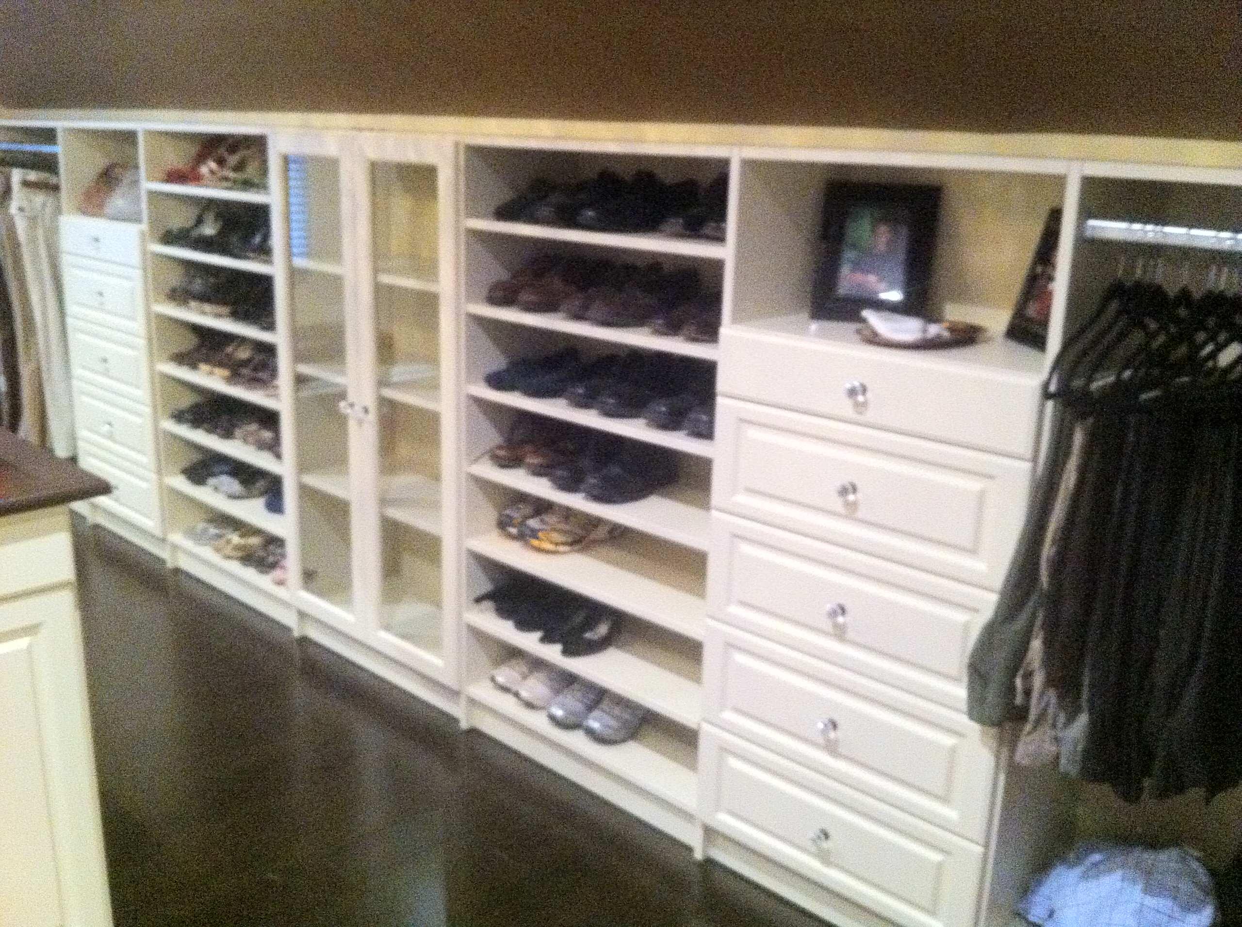 Walk-In Closet Shoe Organization