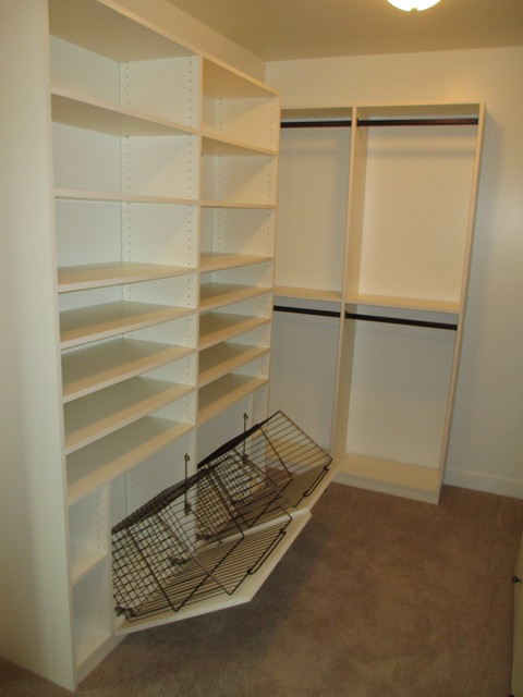walk in closet simple practical inexpensive w double