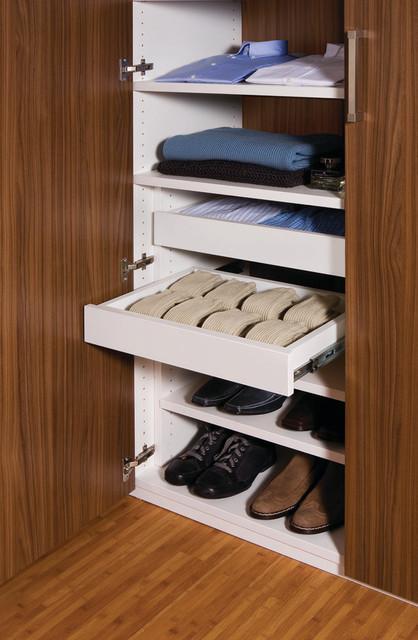 Walk In Closet Sliding Drawers Contemporary Closet
