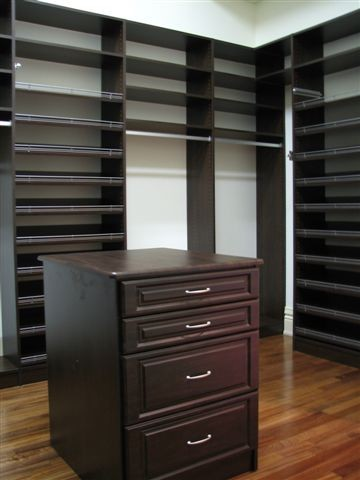 Walk In Closet With Drawer Island Traditional Closet