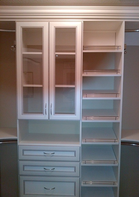 Walk-in Closet with Shoe Storage traditional-closet