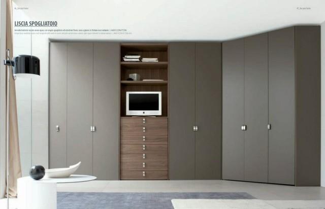 Walk in closets wardrobes for Closets modernos con television
