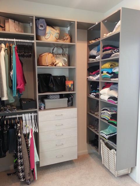 Beautiful Walk In Closets With Drawers Wardrobe