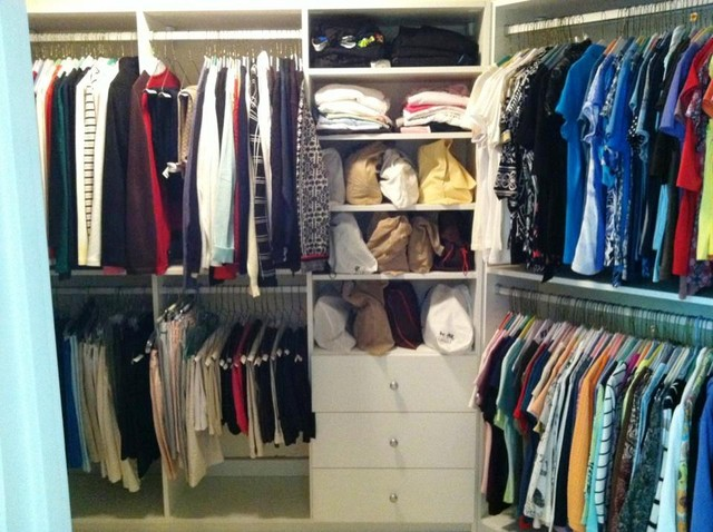 Lovely Walk In Closets With Drawers Traditional Closet