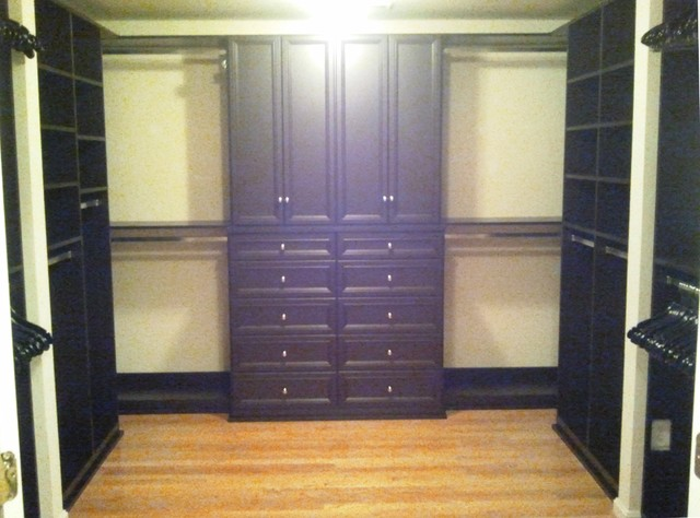 His hers master closet contemporary closet for His and hers walk in closet