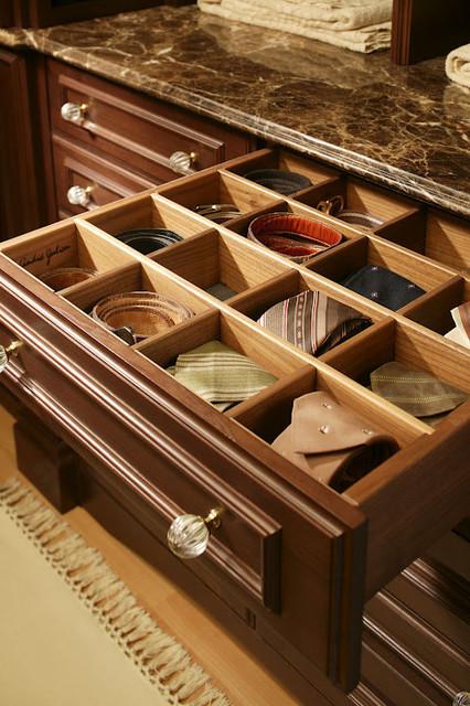 Wardrobe Drawer Detail traditional-closet