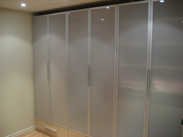 Wardrobe With Glass Doors Closet Toronto By Komandor Closets