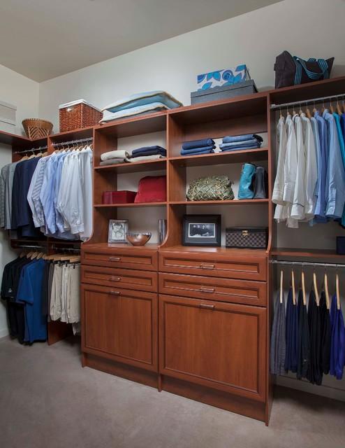 Warm Cognac Closets Traditional Wardrobe Phoenix By Arizona