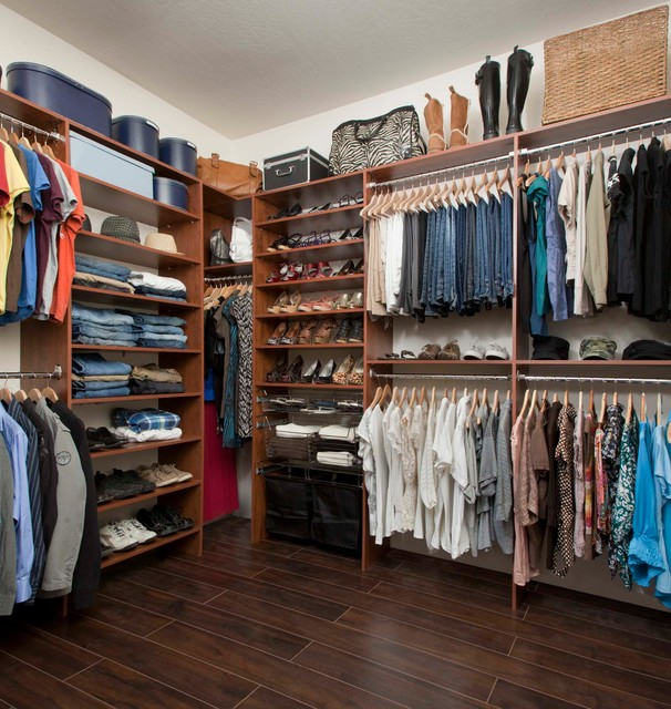 Warm Cognac Closets - Traditional - Closet - phoenix - by Arizona Garage & Closet Design