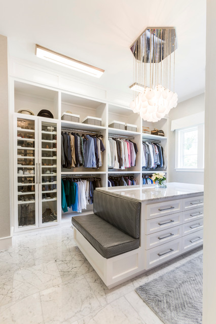 Warm Contemporary Home Transitional Closet