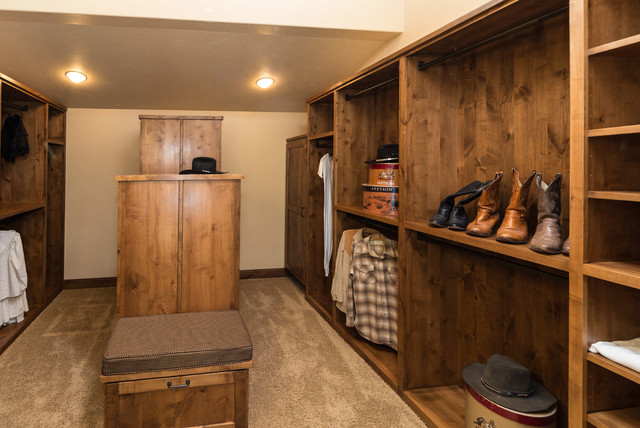 Water Tower Inspired Home Master Closet Rustic Closet