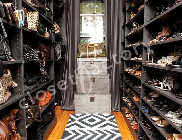 What Does A Stylists Shoe And Handbag Closet Look Like?  Contemporary Wardrobe