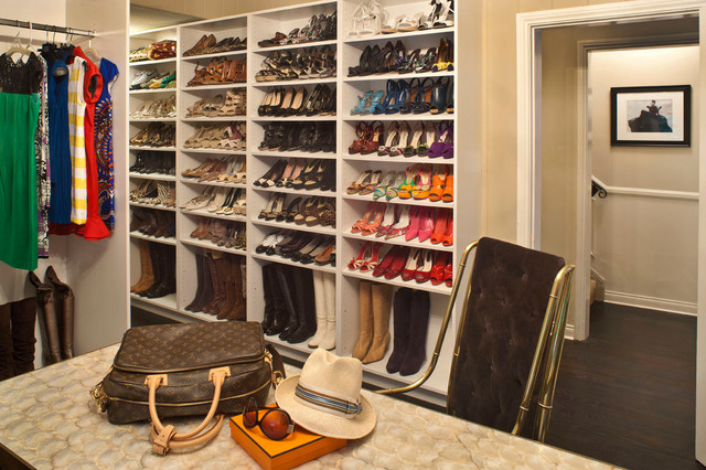 Whimsical Design Transitional Closet
