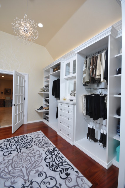 White Dressing Room - Contemporary - Closet - Newark - by Affordable Closets Plus, LLC
