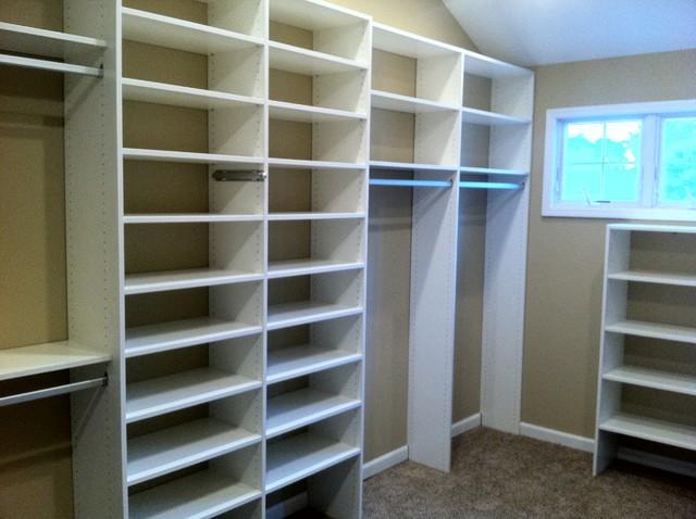 White walk in closet traditional closet other metro - Walk in closet organizer ideas ...