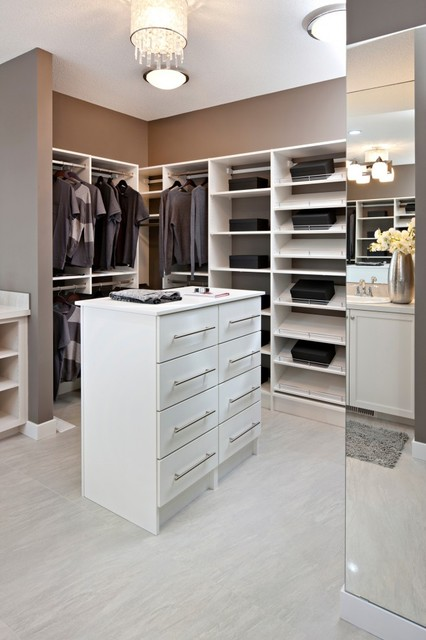 White Wood Solutions Closet - Contemporary - Closet