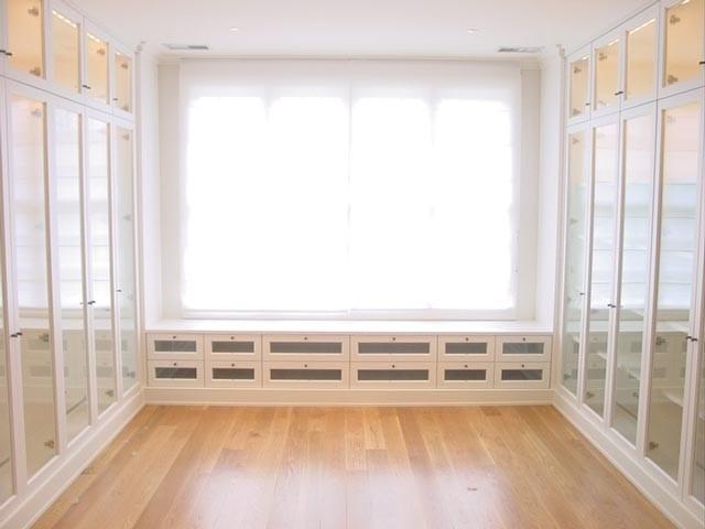 White Wood Walk In Closet Contemporary Closet Miami