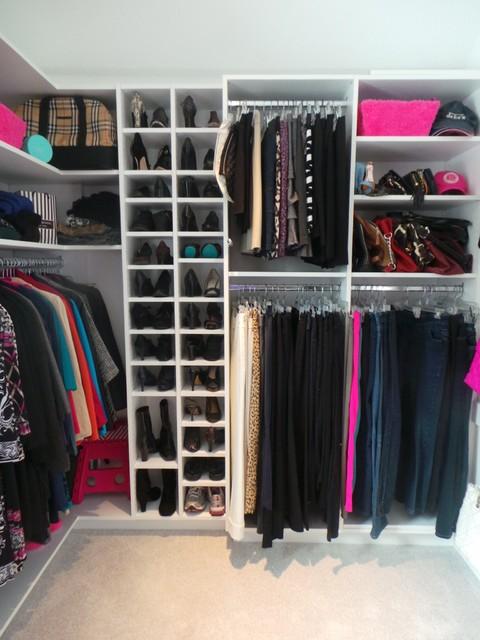Wrap Around Walk In Closet Contemporary Wardrobe