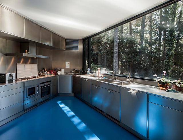 Moderno Mueble De Cocina De Aluminio De Diseño India Viñeta - Ideas ...