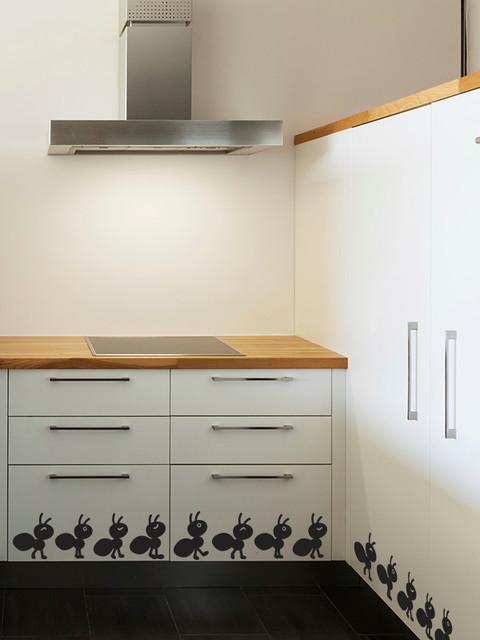 Cenefas Adhesivas Para Cocina   Cenefas Adhesivas De Vinilo Para La Cocina Hormigas Contemporaneo