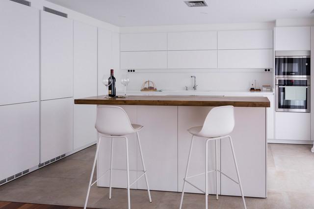 Cocina abierta moderno-cocina