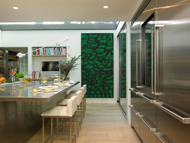 Cocina arquitectónica y milimétrica contemporaneo-cocina