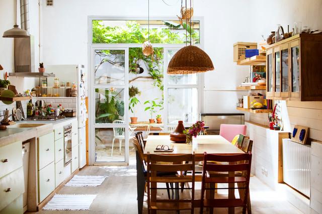 Cocina comedor y terraza casa de campo cocina for Cocinas en terrazas