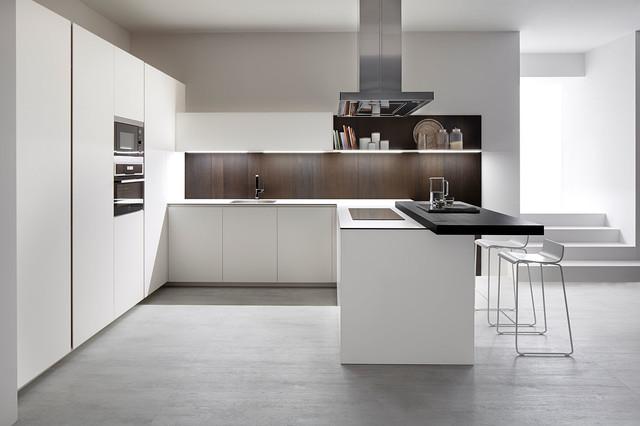 Cocina Serie 45 Blanco Fenix de Dica - Contemporáneo - Cocina ...
