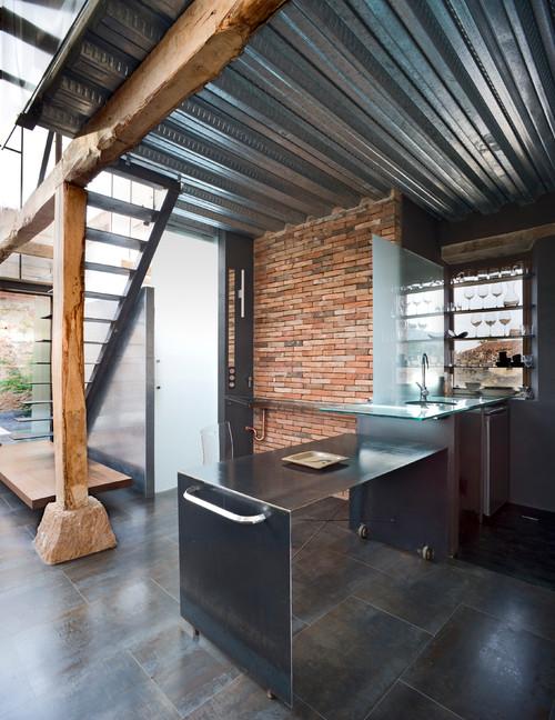 cocina de un pajar rehabilitado por Jesus Castillo de Oli Arquitecto en diariodesign