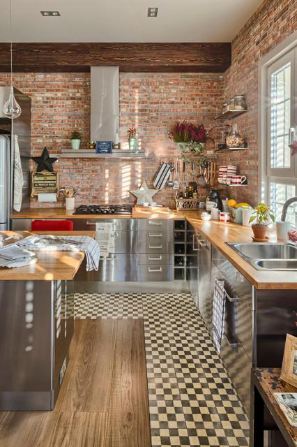 Cucine In Legno E Acciaio In 10 Esempi Da Copiare