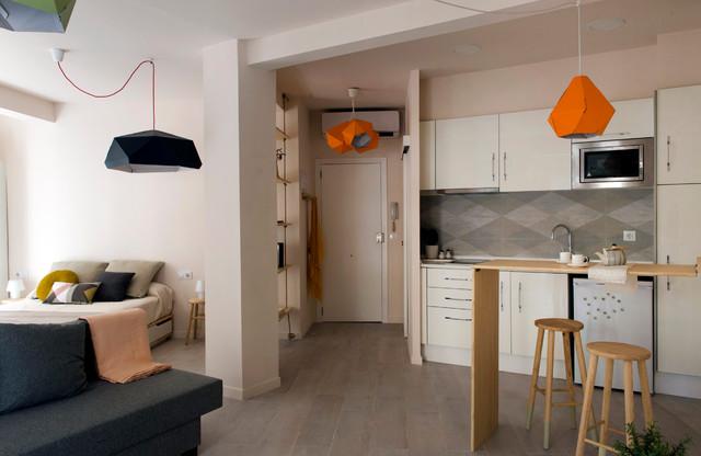 Mini apartamento n rdico cocina valencia de studio for Cocinas pequenas para apartamentos tipo estudio