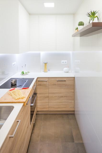 Reforma de cocina en Barcelona (Gracia) nordico-cocina