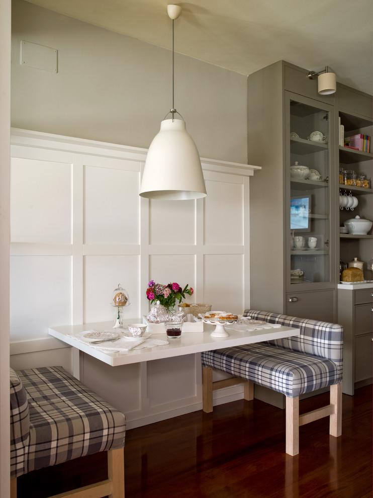 厨房白色餐桌混搭风格装潢效果图