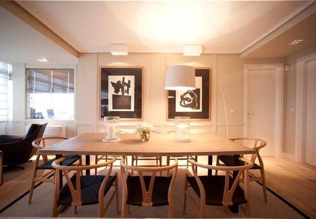 Diseño interior de comedor en madera - Contemporáneo - Comedor ...