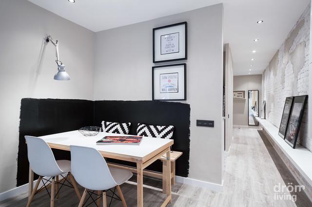 Nuevo dise o de interiores en piso de barcelona n rdico for Diseno de interiores living comedor